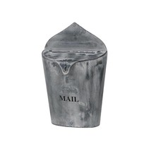 Zinc mail box 27x10x42cm Natural