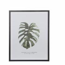 Muurhanger A blad groen - l45xb57cm
