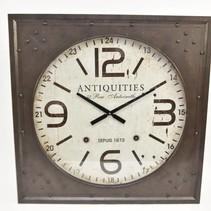 Clock Mtl Antique 80cm Rusty