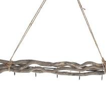 Mulberry twig bundle 5 hooks 50cm Grey