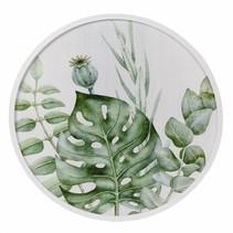 Wanddecoratie MDF rond 'Botanisch' dia60x3cm