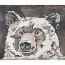 """Linen wall art """"Bear"""" 21x30x2.5cm Multi"""