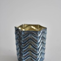 Waxineglas ster middel 8x8x8cm J BLUE