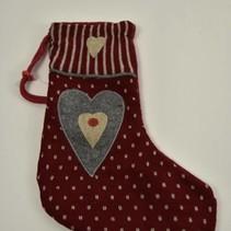 Kerstsok 34cm rood/hart
