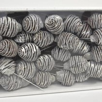 Platyspermum 10cm wire bx White-wash (55pcs)