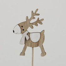 pb. 8 wooden mooses/stick natural 8 cm