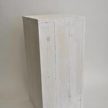 Wooden Pillar 30x30x80cm White