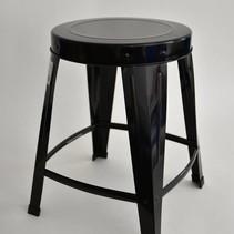 Metal Stool Black 33,5x33,5x42cm