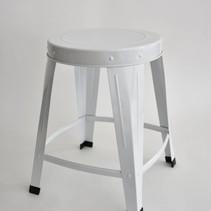 Metal Stool White 33,5x33,5x42cm