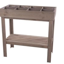 Wooden grow table 78x78x38cm Grey-wash