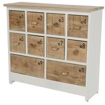 firwood cabinet w 10 drawers white 79x25.5x71cm