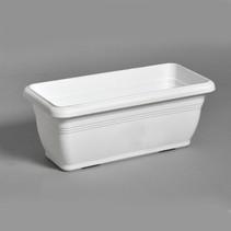 Linea Balcony Box Basic White L45W21H18 cm