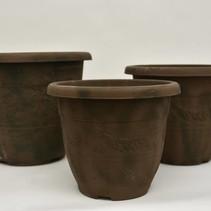 Set/3 kunststof old look potten Miguel D30-39cm