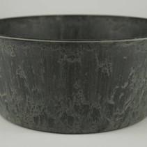 Teil rond grijs D24 H10cm