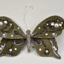 poly vlinder o/c glitter klei 20x15cm