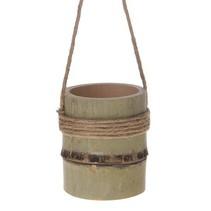 Bamboo flower pot hanger 8x8x10.5cm Natural