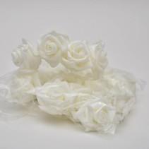 Foam rose 4cm 20pc White