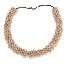 Deco shell collier 69cm Natural