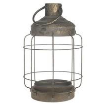 Lantern metal  26x26x40cm Dark grey