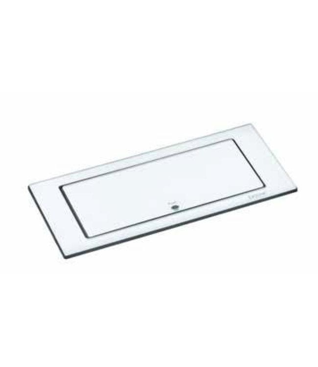 Evoline BackFlip Glass top (2x230V) + (1x USB Lader) Wit