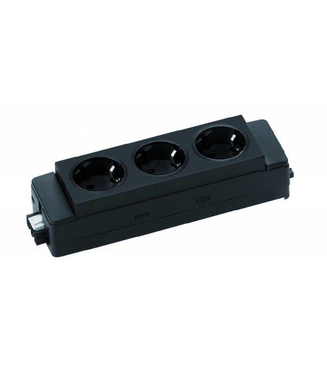 Evoline Express 910 3-weg stekkerblok Zwart Connector 3-polig