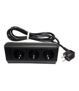 Evoline Dock Small 3x230V - met klem - Zwart