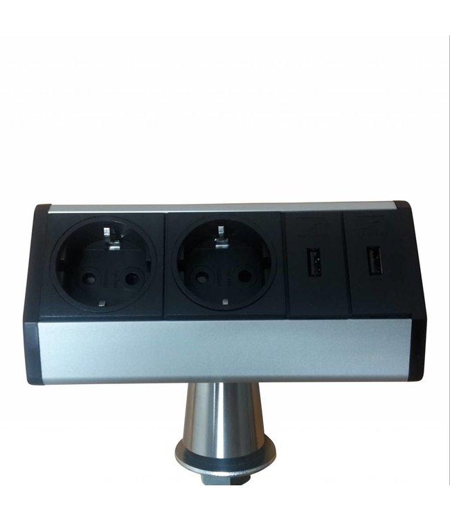 Evoline T-Dock 2x230V / 2x USB lader