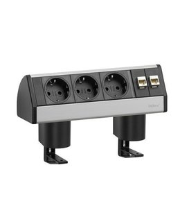 Evoline Dock Data Small 3x230V /2x RJ45 - met 2 klemmen
