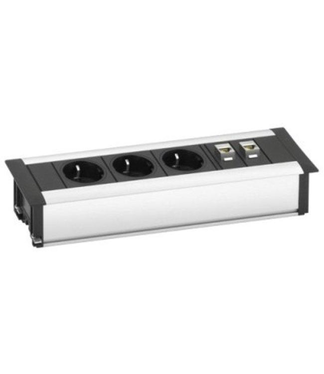 Evoline Frame-Dock DATA SMALL 3x230V / 2xRJ45