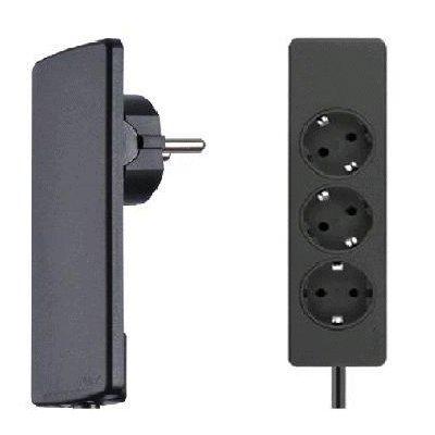 Plug Zwart Kabel en Stekkerdoos