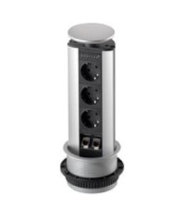 Evoline Port Data ALU (3x230V)(2xRJ45)