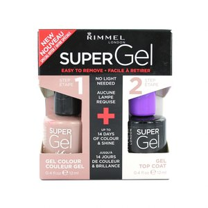 Super Gel Duo Nagellak - 012 Soul Session + Topcoat