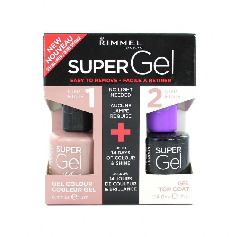 Rimmel Super Gel Duo Nagellak - 012 Soul Session + Topcoat