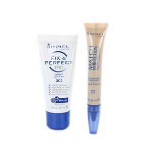 Fix & Perfect Pro Primer - 010 Ivory (+ Match Perfection Concealer & Highlighter)
