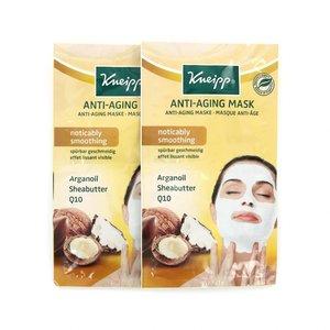 Anti-Aging Masker - Arganoil Sheabutter Q10 (2 sets van 2 maskers)
