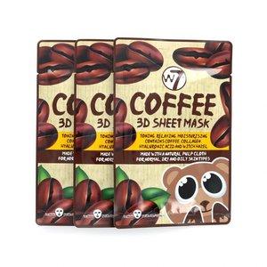 3D Sheet Masker - Coffee (3 Stuks)