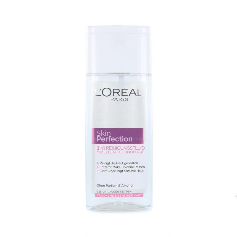 L'Oréal Skin Perfection 3-in-1 Cleansing Water Voor Droge & Gevoelige Huid - 200 ml