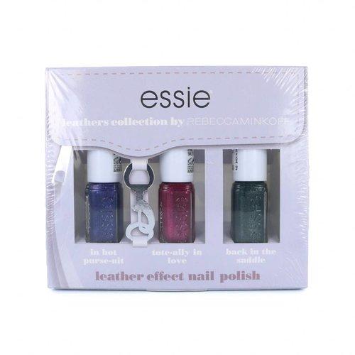 Essie Leathers Collection by Rebecca Minkoff Mini Nagellak Set - #1 - 3 x 5 ml