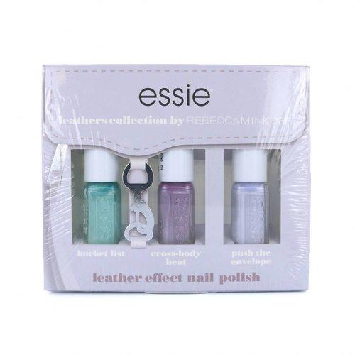 Essie Leathers Collection by Rebecca Minkoff Mini Nagellak Set - #2 - 3 x 5 ml