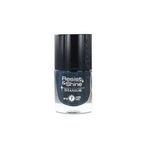 Resist & Shine Nagellak - 736 Black Turquoise