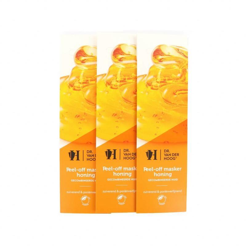 Dr. van der Hoog Peel-Off Masker Honing - Gecombineerde Huid - 3 Stuks