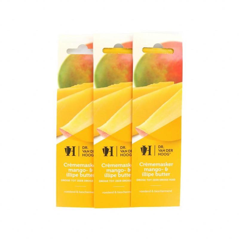 Dr. van der Hoog Crème Masker Mango- & Illipe Butter - Droge Tot Zeer Droge Huid - 3 Stuks