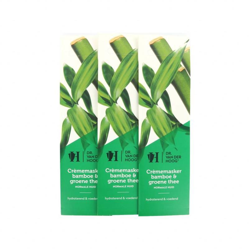 Dr. van der Hoog Crème Masker Bamboe & Groene Thee - Normale Huid - 3 Stuks