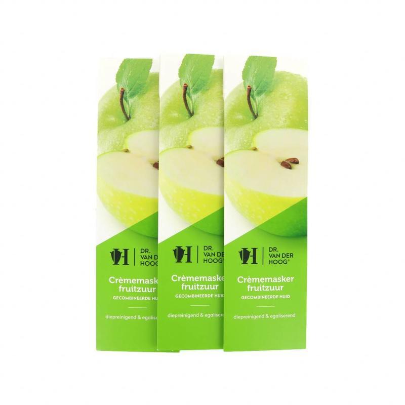 Dr. van der Hoog Crème Masker Fruitzuur - Gecombineerde Huid - 3 Stuks