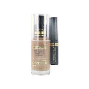 Miracle Match Foundation - 75 Golden + Masterpiece Mascara Black