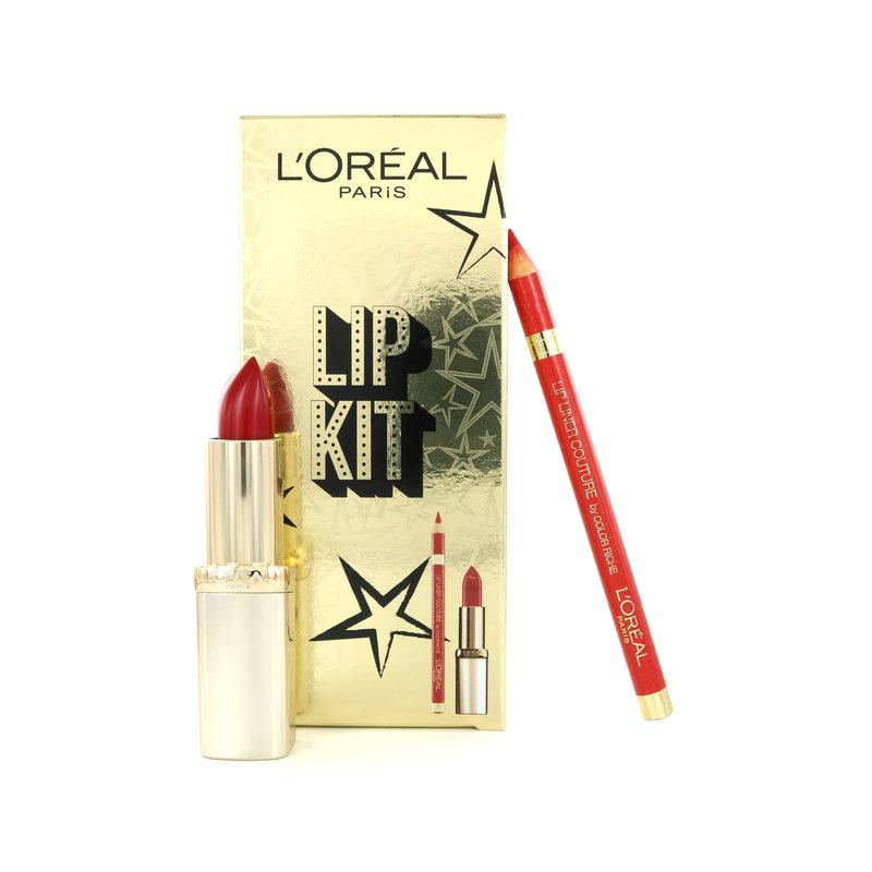 L'Oréal Lip Kit - Color Riche Lippenstift 297 Red Passion + Lip Liner 377 Perfect Red