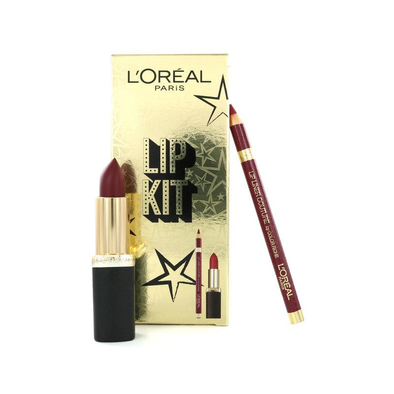 L'Oréal Lip Kit - Color Riche Lippenstift Matte 430 Mon Jules + Lip Liner 374 Intense Plum