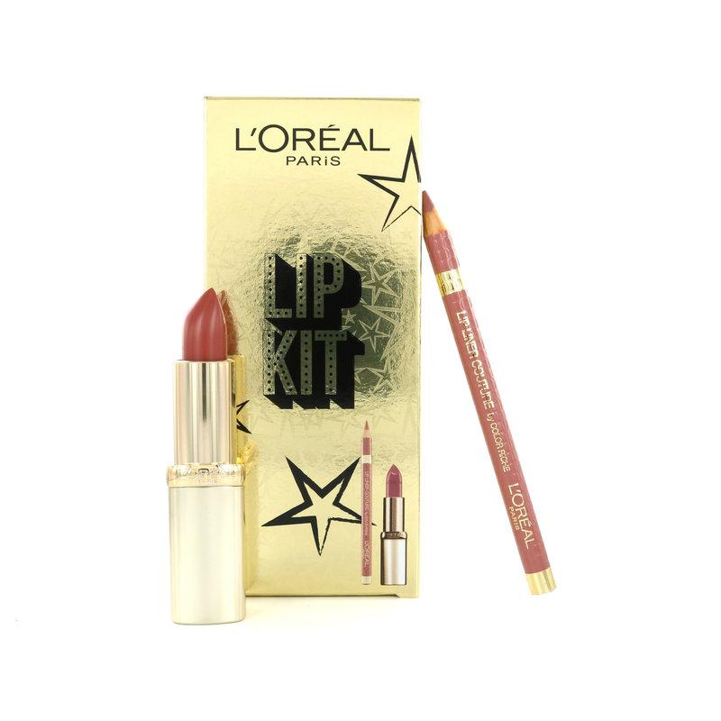 L'Oréal Lip Kit - Color Riche Lippenstift 630 Beige À Nu + Lip Liner 630 Beige À Nu