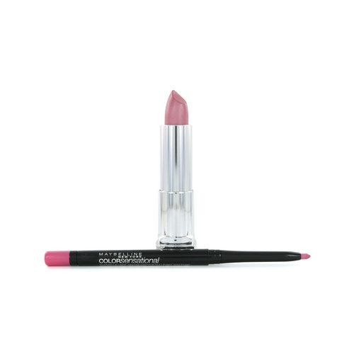 Maybelline Color Sensational Lipstick - 150 Stellar Pink + Lipliner 60 Palest Pink