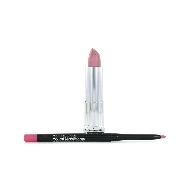 Maybelline Color Sensational Lipstick 150 Stellar Pink + Lipliner 60 Palest Pink